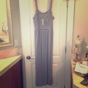 NWT LOFT Striped Maxi Dress